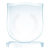 Glass trophy Stock Images