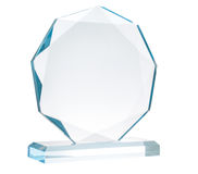 Glass trophy Royalty Free Stock Images