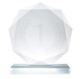 Glass trophy Stock Photos