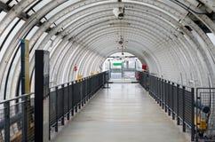 Glass tube corridor at Pompidou Centre in Paris Royalty Free Stock Photo