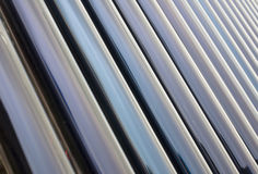 Glass tube series. Glass tube cross composition is full of pictures Stock Photo