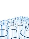Glass Tubes. Many glass tubes isolated on white Stock Photo