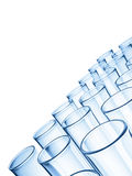 Glass Tubes. On white background Royalty Free Stock Images