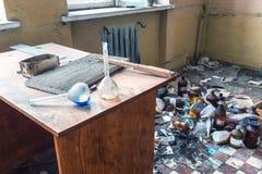 Abandoned chemical laboratory Royalty Free Stock Images