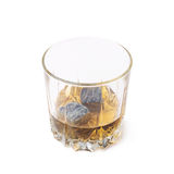 Glass tumbler filled with whiskey Stock Photos