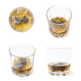 Glass tumbler filled with whiskey Stock Image