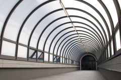 Glass tunnel Royalty Free Stock Image