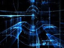 Glass tunnel - frambragd bild för abstrakt begrepp digitalt Royaltyfri Fotografi