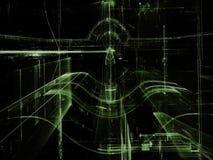Glass tunnel - frambragd bild för abstrakt begrepp digitalt Arkivfoton