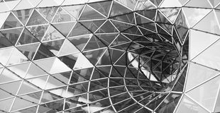 Glass tunnel in Frankfurt Royalty Free Stock Images