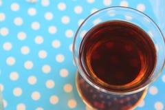 A glass of Turkish black tea Royalty Free Stock Image