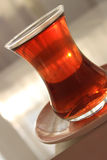 A glass of Turkish black tea Stock Images