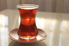 A glass of Turkish black tea Royalty Free Stock Photo