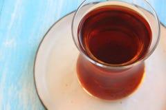 A glass of Turkish black tea Stock Photos