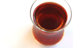 A glass of Turkish black tea Royalty Free Stock Photography