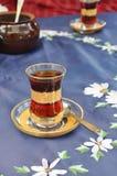 Glass of Turkish tea Stock Photos