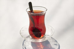 Glass of Turkish Tea Stock Photography