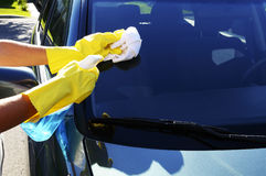 glass tvättande windshield Royaltyfri Fotografi