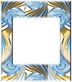 Glass twirls frame stock photos
