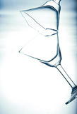 Glass underwater. Royalty Free Stock Photography