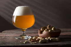 Glass of unfiltered beer Stock Photography