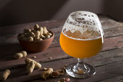 Glass of unfiltered beer Stock Photo