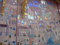 Glass vägg- målning och garnering Arkivbilder