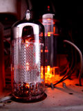 Glass vacuum radio tube Stock Image