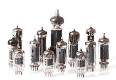 Glass vacuum radio tubes Royalty Free Stock Photography