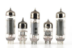Glass vacuum radio tubes Royalty Free Stock Photo