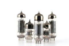 Glass vacuum radio tubes Royalty Free Stock Photos