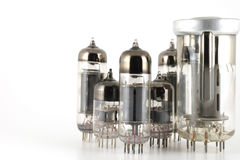 Glass vacuum radio tubes Royalty Free Stock Image