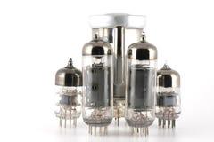 Glass vacuum radio tubes Stock Image