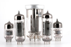 Glass vacuum radio tubes Royalty Free Stock Image