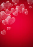 Glass valentine heart over pink background Royalty Free Stock Photo