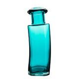 Glass vas, vit bakgrund arkivfoton