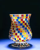 Glass vase. With colorful squares Stock Image