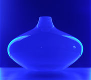 Glass Vase in Blue Light Stock Photos