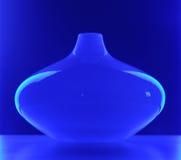 Glass Vase in Blue Light Stock Photos