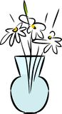 Glass vase with daisies Stock Photography