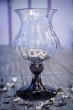 Glass vase decor object Royalty Free Stock Photography