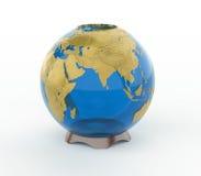 Glass vase Earth 3d model. Isolated on white background stock illustration