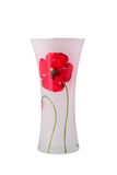 Glass vase with a flower. Isolated. Glass vase with a flower on a white background. It is isolated, the worker of paths is present Royalty Free Stock Image