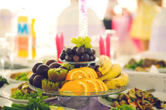 Glass Vase with Fruits Royalty Free Stock Image
