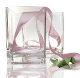Glass vase gift stock photos