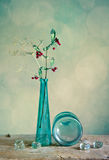 Glass Vase with red berries royalty free stock photography