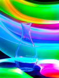 Glass vase with sparks and waves of light Royalty Free Stock Photos