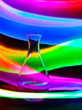Glass vase with sparks and waves of light Royalty Free Stock Photo