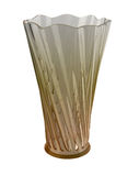 Glass vase. On white background Royalty Free Stock Photography