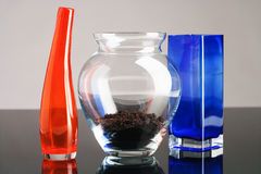 Glass vases Stock Photography